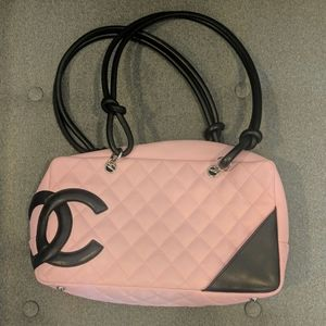 Chanel Cambon Pink Quilted Shoulder Bag
